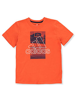 Boys' Basketball Photo Logo T-Shirt by Adidas in Red - $14.99