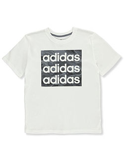 Boys' Texture Box Logo T-Shirt by Adidas in Multi