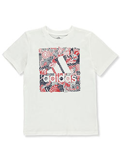 Boys' Running Wild Logo T-Shirt by Adidas in Multi