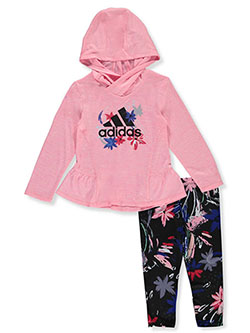 Floral 2-Piece Leggings Set Outfit by Adidas in Multi