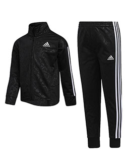 Girls' 2-Piece Tracksuit Outfit by Adidas in Black multi