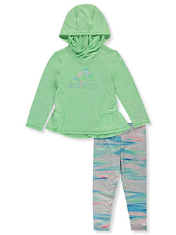 Girls' 2-Piece Leggings Set Outfit by Adidas in Multi