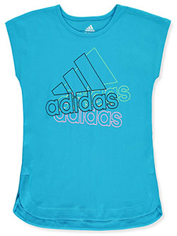 Girls' Sleeveless T-Shirt by Adidas in Green/multi