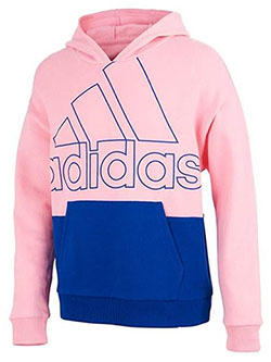 Girls' Hoodie by Adidas in Light pink