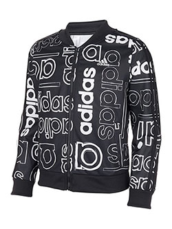 Girls' Track Jacket by Adidas in Black multi