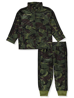 Baby Boys' 2-Piece Camo Sweatsuit Outfit by Adidas in Green camo - Active Sets