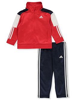 Baby Boys' 2-Piece Sweatsuit Outfit by Adidas in Red/multi - Active Sets