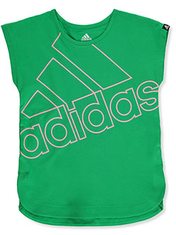 Girls' Oversized Logo T-Shirt by Adidas in Green