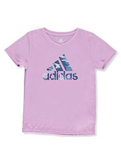 Girls' V-Neck T-Shirt by Adidas in Lilac
