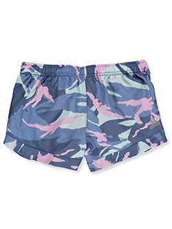 Girls' Camo Shorts by Adidas in Blue