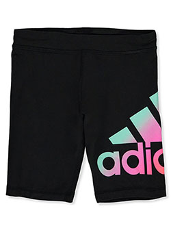 Girls Gradient Logo Bike Shorts by Adidas in Black