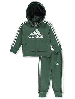 Boys' 2-Piece Sweatsuit Outfit by Adidas in Olive, Infants