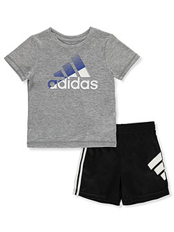 Baby Boys' 2-Piece USA Shorts Set Outfit by Adidas in Gray, Infants
