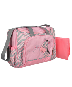 "Tender Kisses ""Zebra Baby"" Diaper Duffle Bag with Changing Pad - CookiesKids.com"