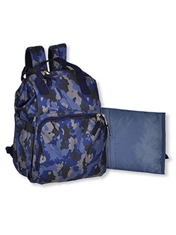 Dotted Camouflage Backpack Diaper Bag with Changing Pad by Baby Essentials in Camo