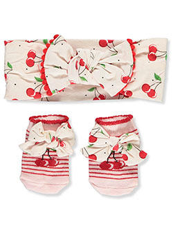 Headband & Bootie Socks Set by Baby Essentials in Multi