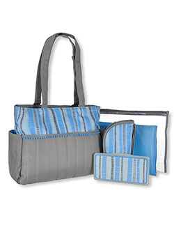 5-Piece Diaper Bag Set by A.D. Sutton & Son in Blue, Infants