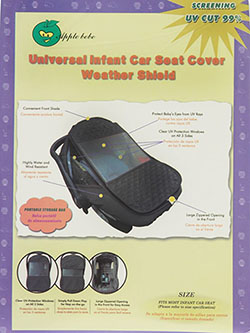 Universal Infant Car Seat Cover Weather Shield by Apple Bebe in gray, green and pink, Infants