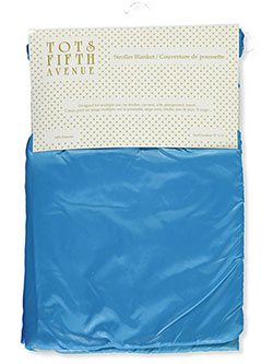 Fleece-Lined Stroller Blanket by Tots Fifth Avenue in Blue - Blankets