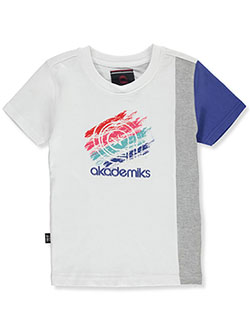 Boys' Side Panel T-Shirt by Akademiks in White