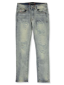 Boys' Rip Moto Jeans by Akademiks in Tint, Sizes 8-20
