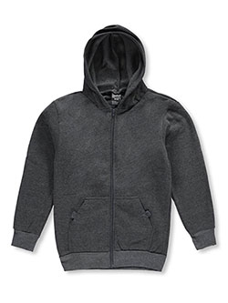 Hoodie by Quad Seven in black, dark gray, gray and navy
