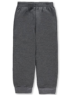 "Little Boys' ""Classic Style"" Joggers by Quad Seven in dark gray and gray, Sizes 4-7"