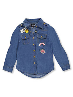 "Dollhouse Big Girls' ""Free to Be Me"" Button-Down (Sizes 7 – 16) - CookiesKids.com"