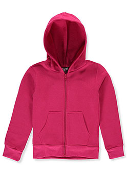 Real Love Girls' Fleece Hoodie by Alura in fuchsia and navy