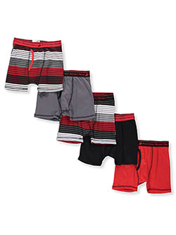 Boys' 5-Pack Boxer Briefs by Beverly Hills Polo Club in Black/multi