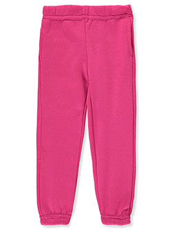 Girls' Fleece Joggers by Real Love in fuchsia and pink