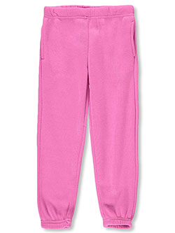 Girls' Fleece Joggers by Real Love in Pink