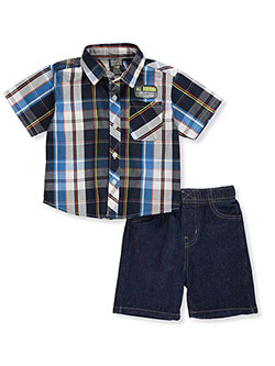 0bfcf1f7841 Baby Boys  2-Piece Shorts Set Outfit by Teddyboom in White black ...