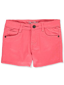 Girls' Twill Shorts by Real Love in coral, fuchsia and mint, Girls Fashion