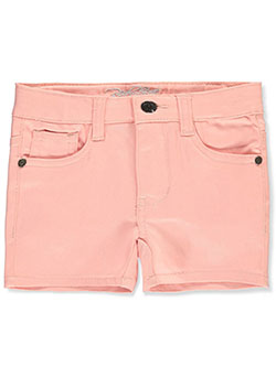 Girls' Twill Shorts by Real Love in blush, orange and yellow, Girls Fashion