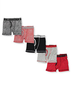 Boys' 5-Pack Boxer Briefs by Beverly Hills Polo Club in Red multi