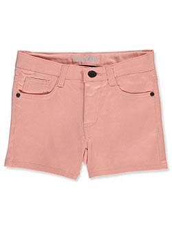 Girls' Twill Shorts by Real Love in blush and peach, Girls Fashion