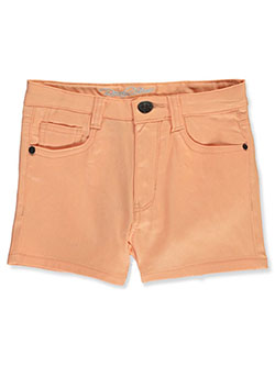 Girls' Twill Shorts by Real Love in Peach