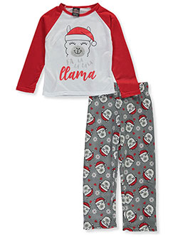 Fa la la la Llama 2-Piece Pajamas by PJ's & Presents in Multi, Girls Fashion