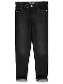 Girls' Dark Stitch Jeans by Real Love in Black, Girls Fashion