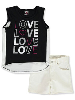 Quadruple Love 2-Piece Shorts Set Outfit by Real Love in Black