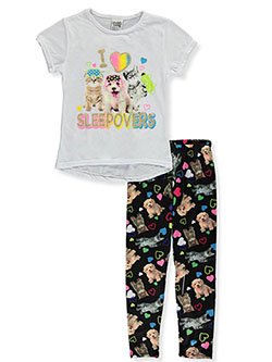 I Heart Sleepovers 2-Piece Pajamas by Sweet N Sassy in White/multi
