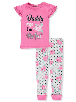 Baby Girls' Boss Babe 2-Piece Pajamas by Mon Petit in Fuchsia/white - $5.99