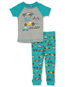 Baby Boys' Fast Asleep 2-Piece Pajamas by Mon Petit in aqua/multi, black multi, blue/multi, gray multi and navy/yellow