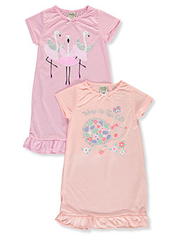 Girls' Flamingo 2-Pack Nightgowns by Sweet n Sassy in Multi
