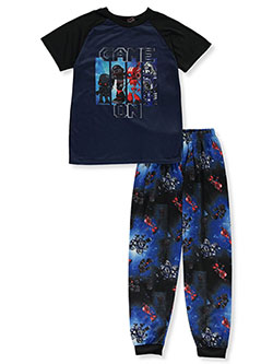 Boys' 2- Piece Game On Pajamas by Quad Seven in navy/black and red/black, Sizes 4-7
