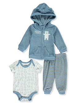 Unbearably Lovable 3-Piece Layette Set by Duck Duck Goose in Blue, Infants