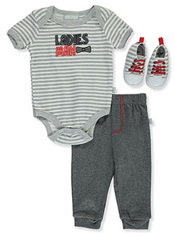 Ladies Man 3-Piece Layette Set by Duck Duck Goose in Multi
