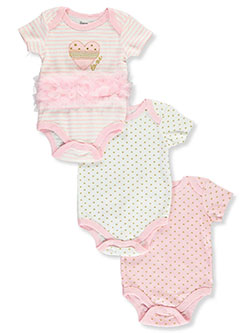 Baby Girls' 3-Pack Bodysuits by Princess Rose in Multi