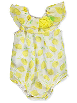 Baby Girls' Romper Dress by Duck Duck Goose in Yellow/white